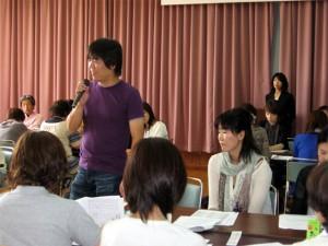 他施設との情報交換でとても勉強になったとDグループの発表