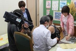 風疹の予防接種時の様子